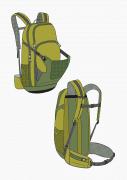 Produkt: Schnitt-Technik Rucksack für Radsport
