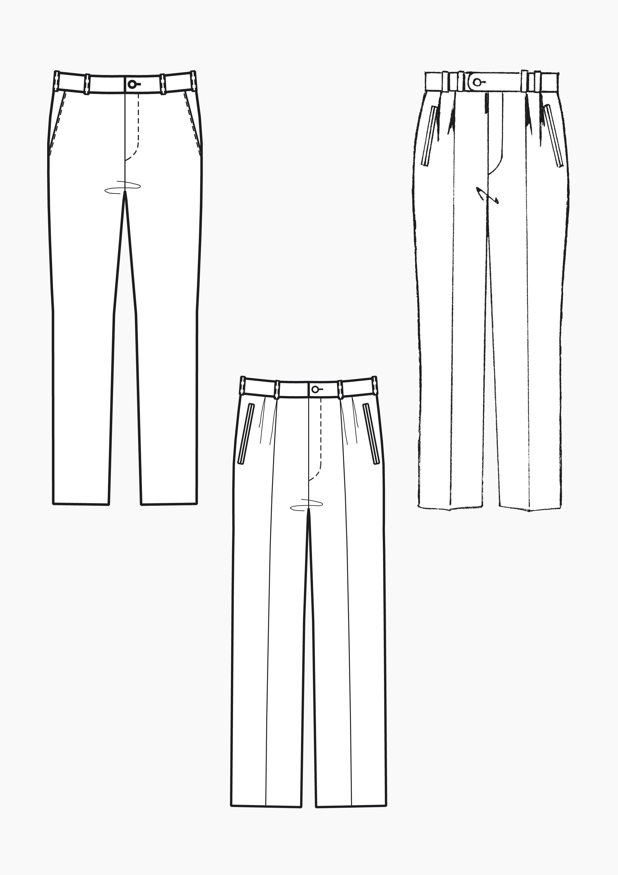 Produkt: Schnitt-Technik Grundschnitt Hose und Bundfaltenhose für Herren