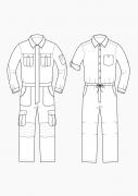 Produkt: Schnitt-Technik Overalls für Herren