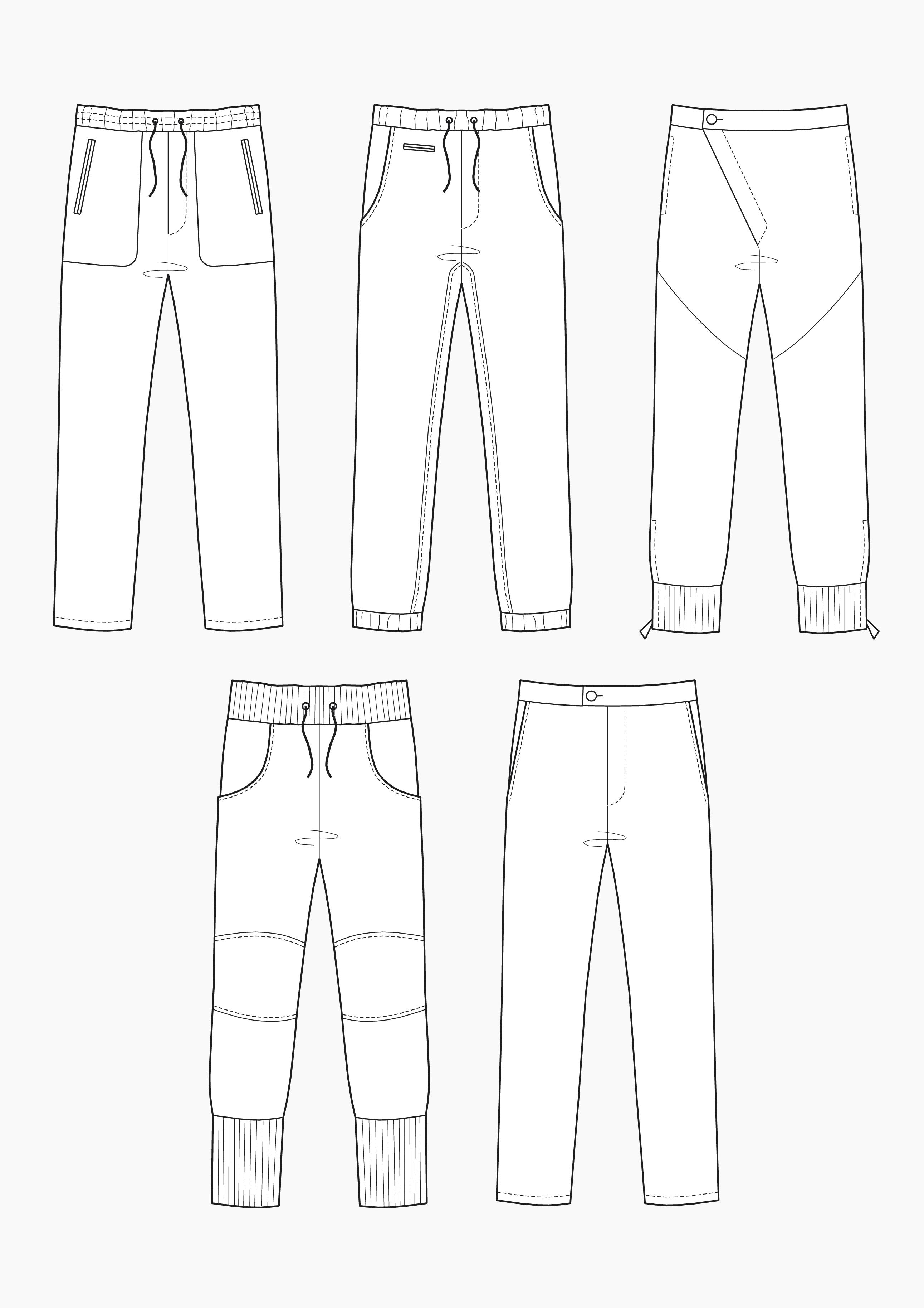 Produkt: Schnitt-Technik Relaxed Pants für Herren