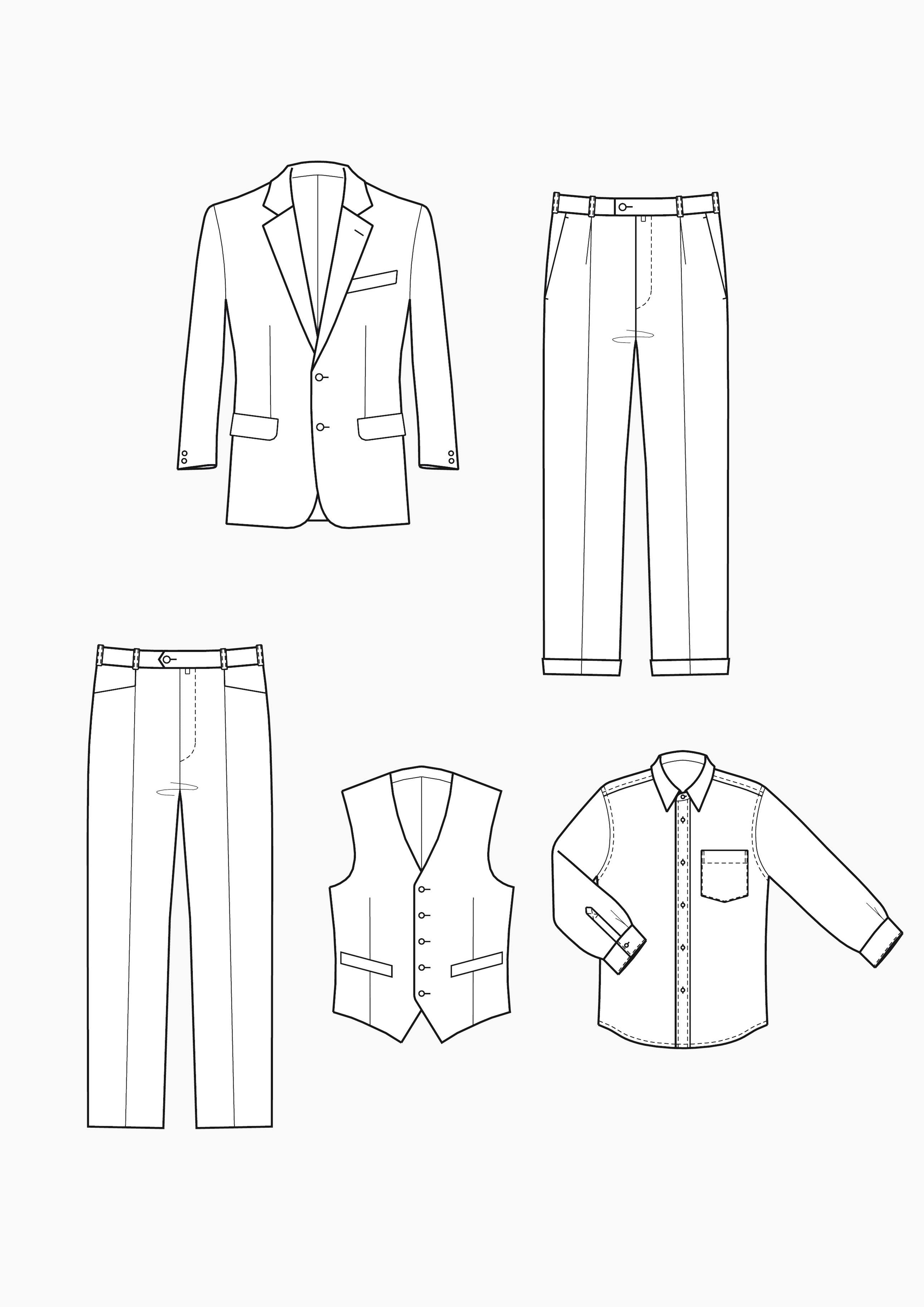 Produkt: Schnitt-Technik Anzug für Jungen