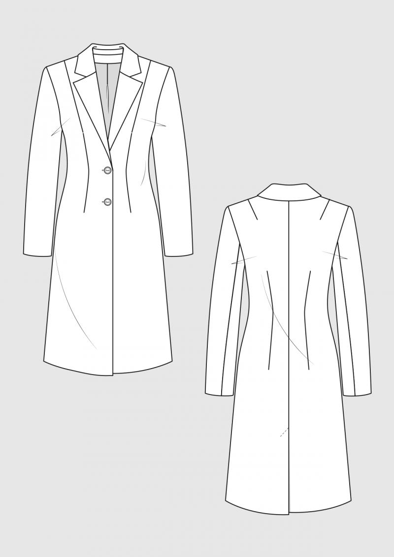 Produkt: Schnittmuster Grundschnitt taillierter Mantel