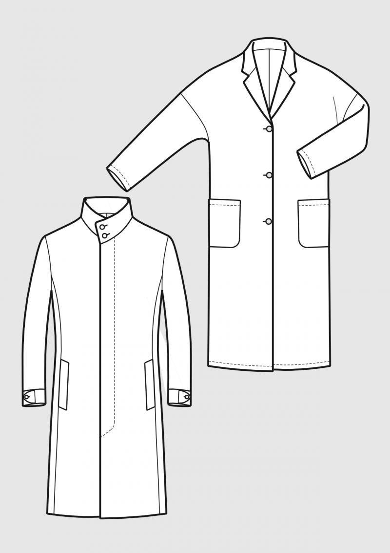 Produkt: Schnittmuster Jersey Mäntel für Herren