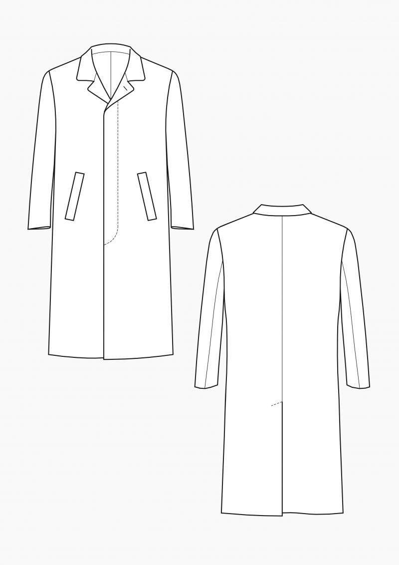 Produkt: Gradieren hochgeschlossener Mantel für Herren
