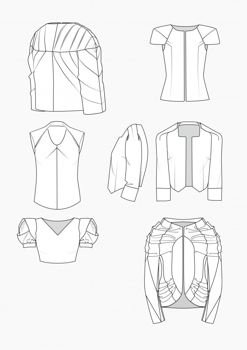 Produkt: Schnitt-Technik Rücken- und Schulter-Gestaltung