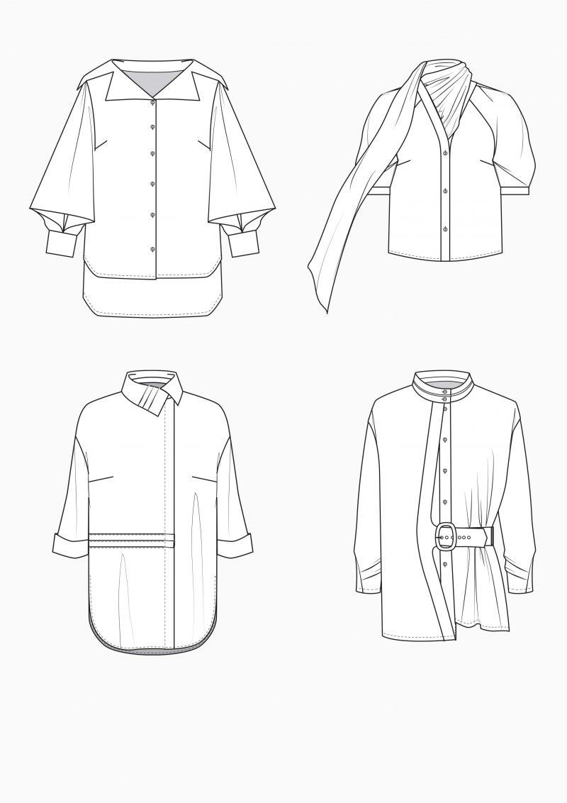 Produkt: Schnitt-Technik Blusen für große Größen