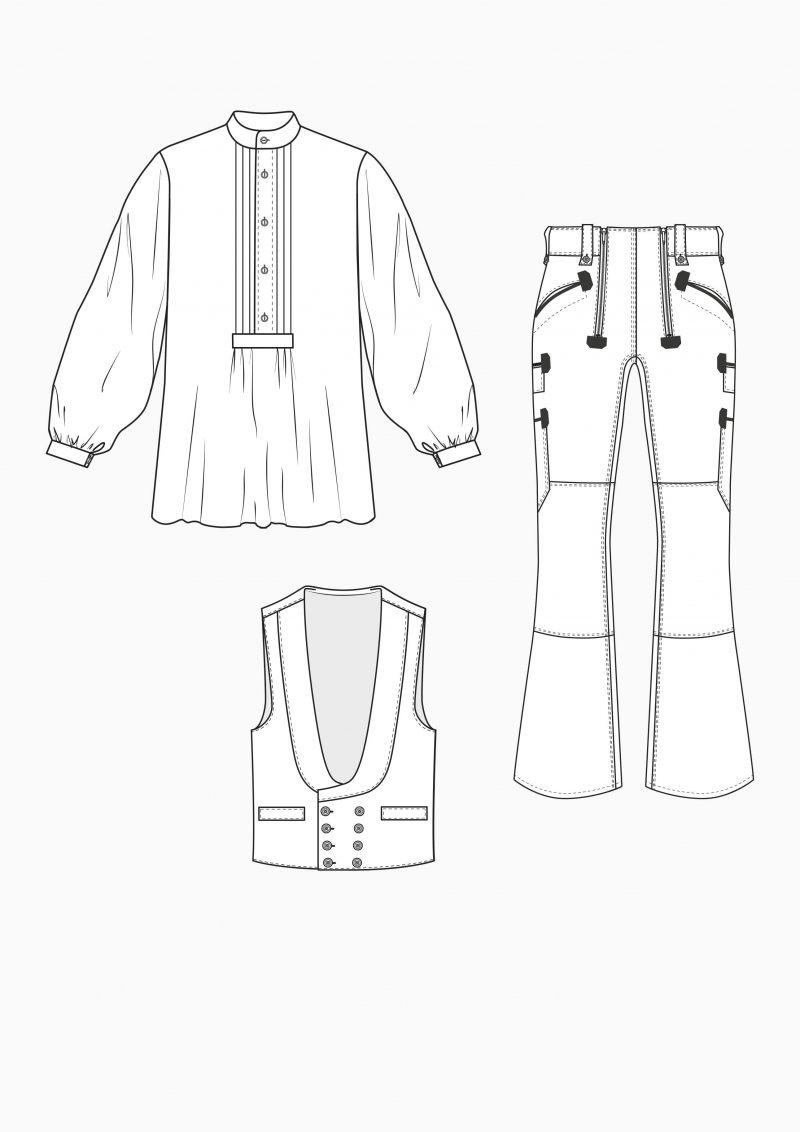 Produkt: Schnitt-Technik Zunftbekleidung