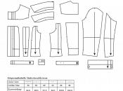 Teile des Schnittmuster der klassichen Jeansjacke