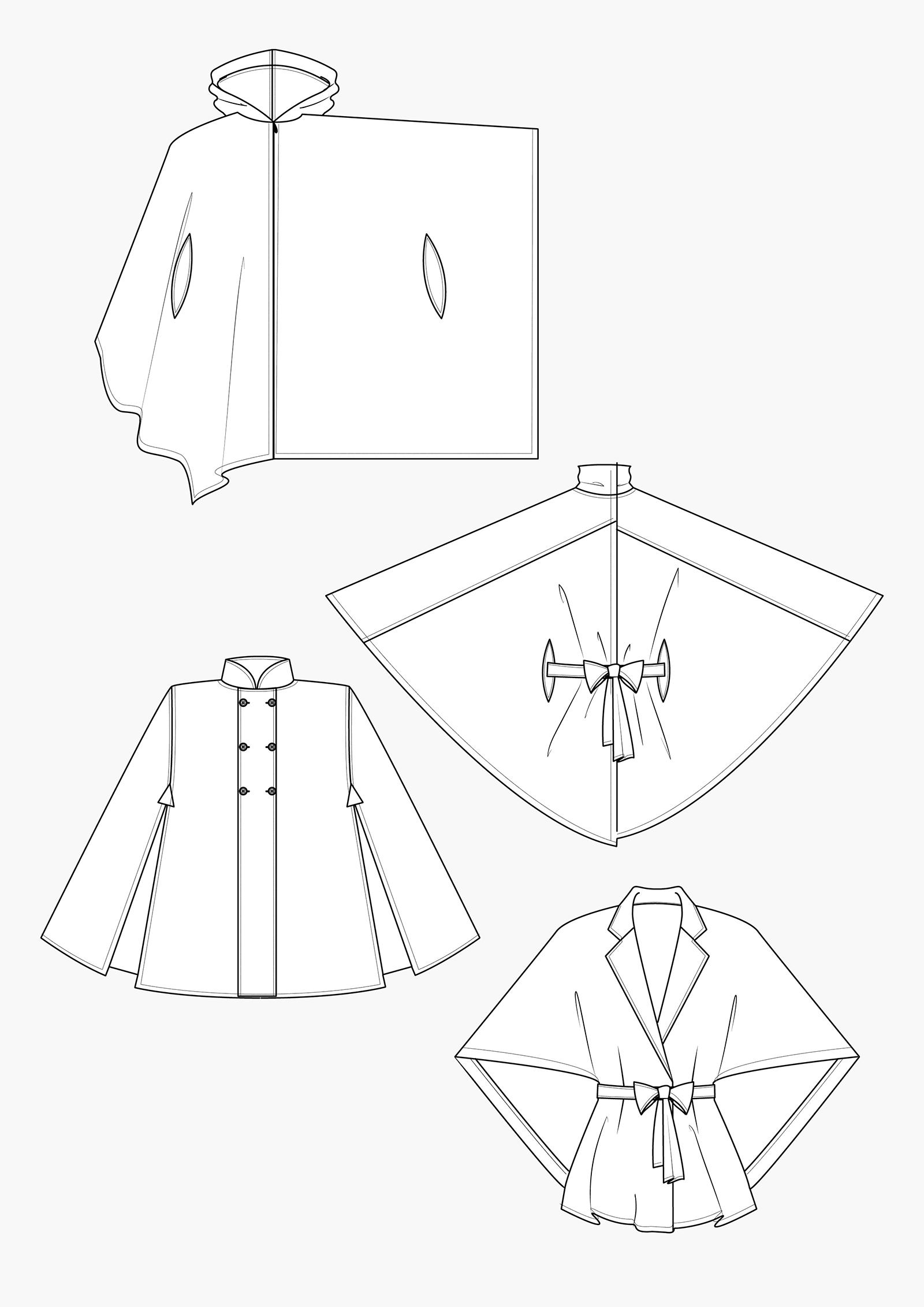 Produkt: Schnitt-Technik Capes und Ponchos
