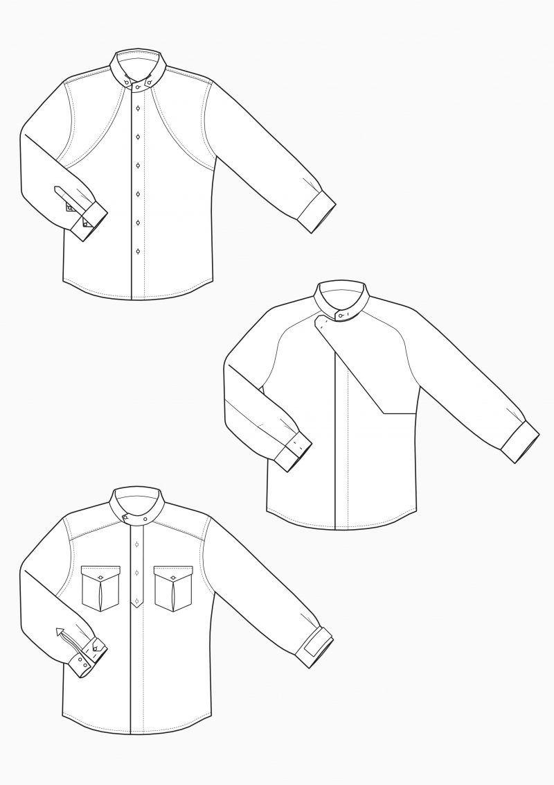 Produkt: Schnitt-Technik Hemden für untersetzte Größen für Herren