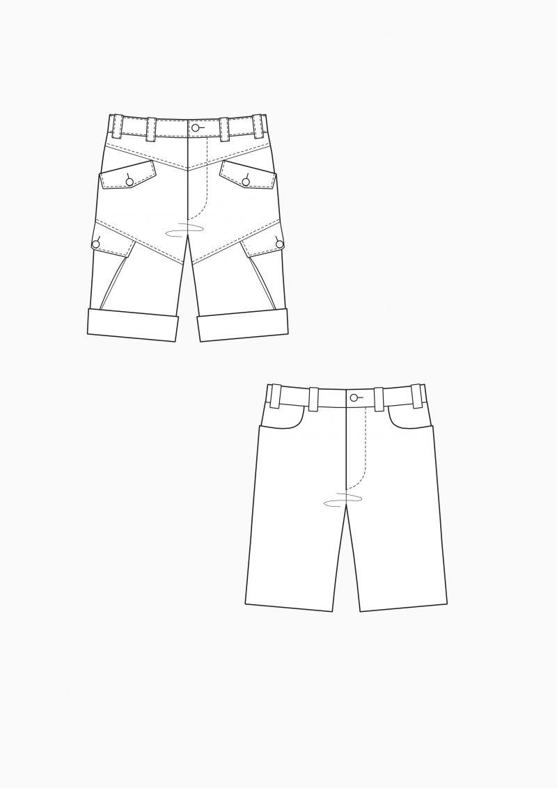 Produkt: Schnitt-Technik Shorts für Herren