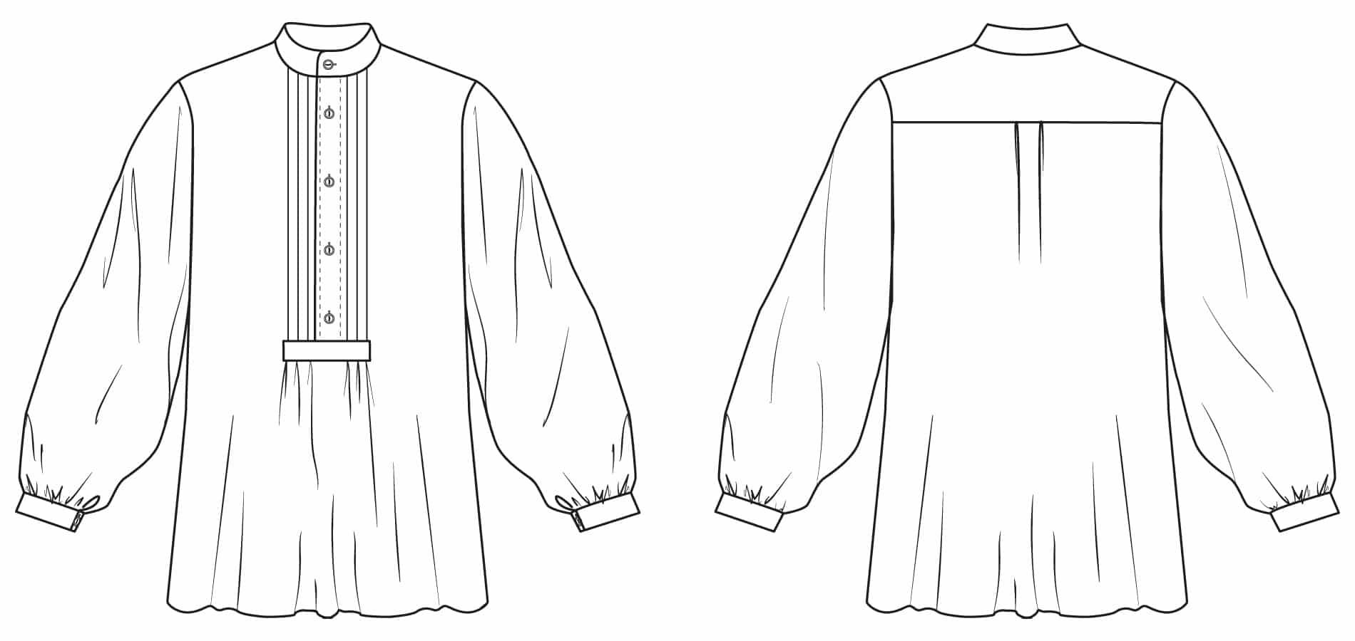 Ansicht des Zunfthemdes für Herren