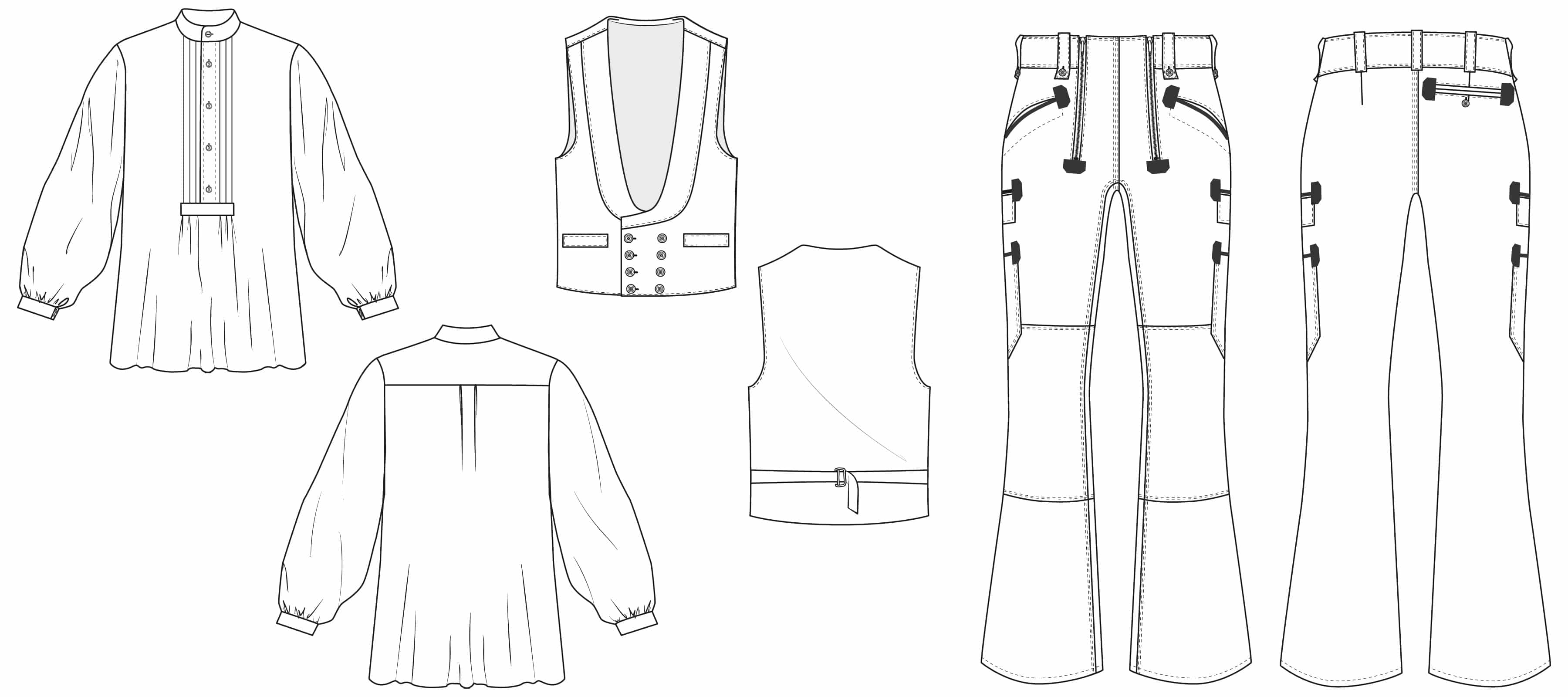 Ansicht der Zunftbekleidung für Herren