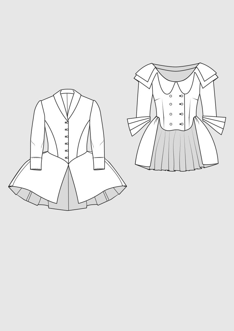 Produkt: Schnittmuster Historische Jacken 18. Jahrhundert