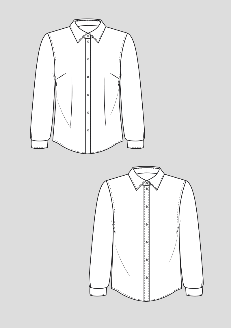 Produkt: Schnittmuster Grundschnitt Blusen