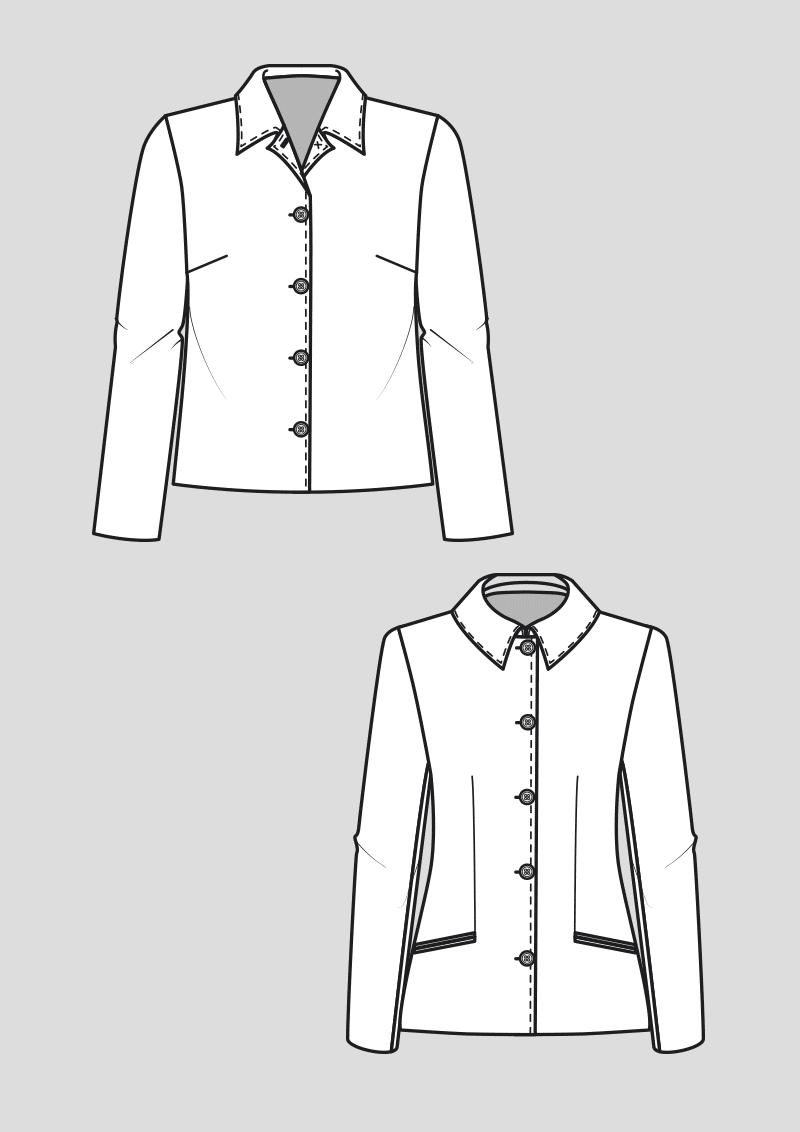 Produkt: Schnittmuster Grundschnitt Jacken