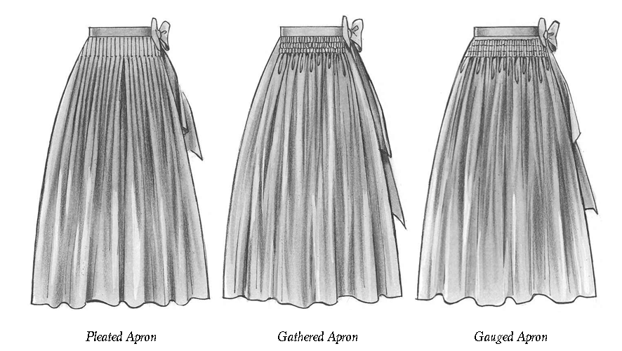 different types of dirndl apons