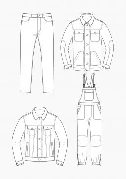 Product: PDF Download: Patternmaking Techniques Jeans-Basics for Men