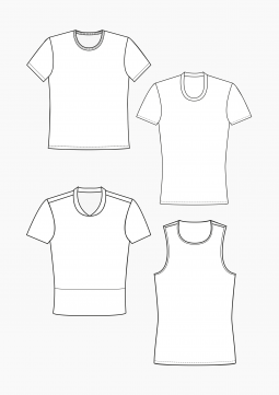 Product: Download Pattern Construction Men: T-Shirts and Tops