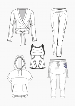 Product: PDF Download: Pattern Making Yoga Wear