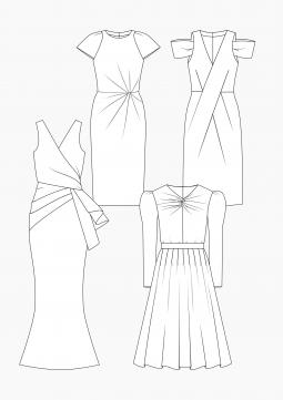 Product: PDF Download: Pattern Making Evening Dresses