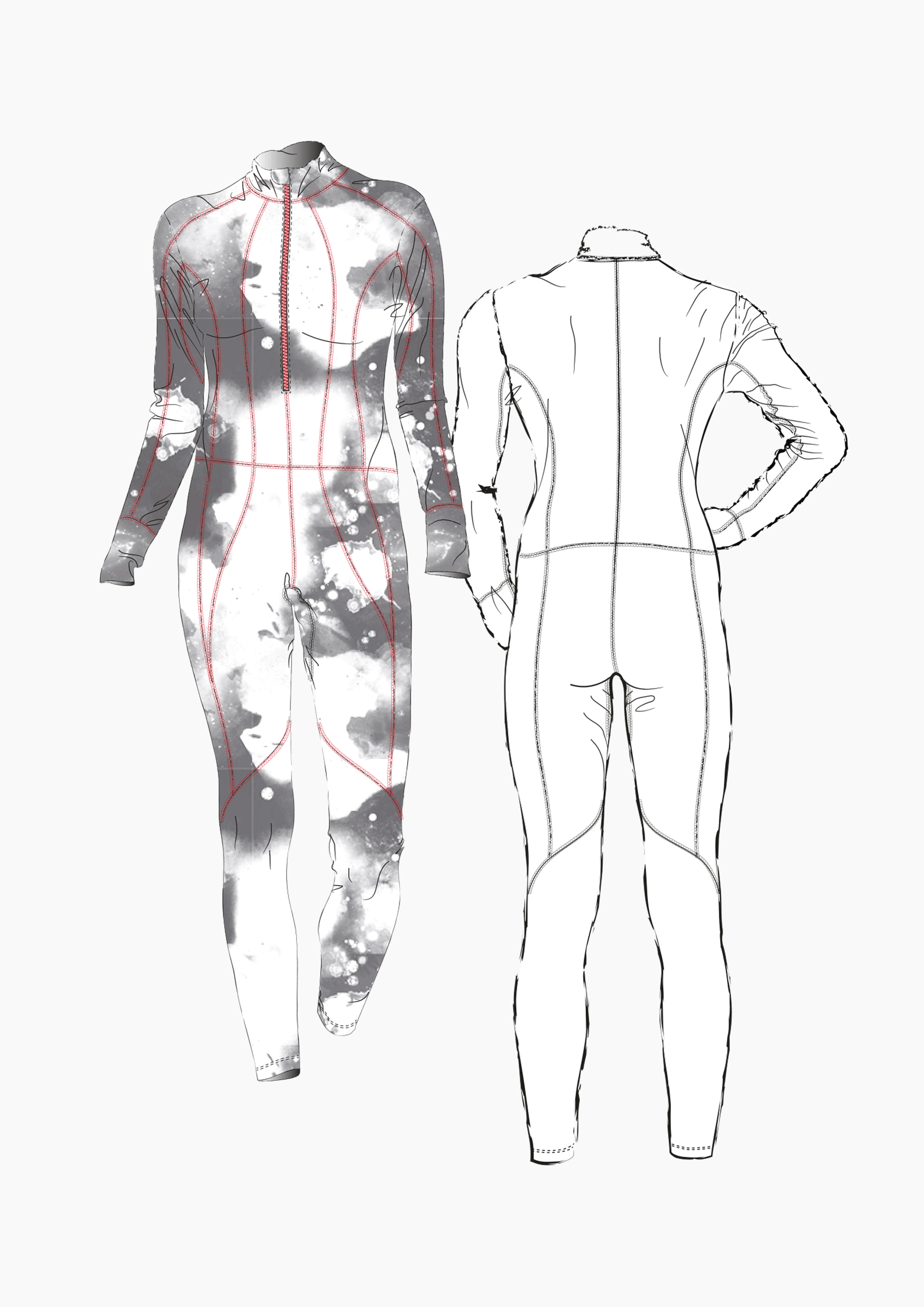 Product: Pattern Making Cross Country Skiing Suit