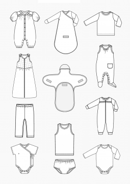 Product: PDF Download: Pattern Making Baby Clothes