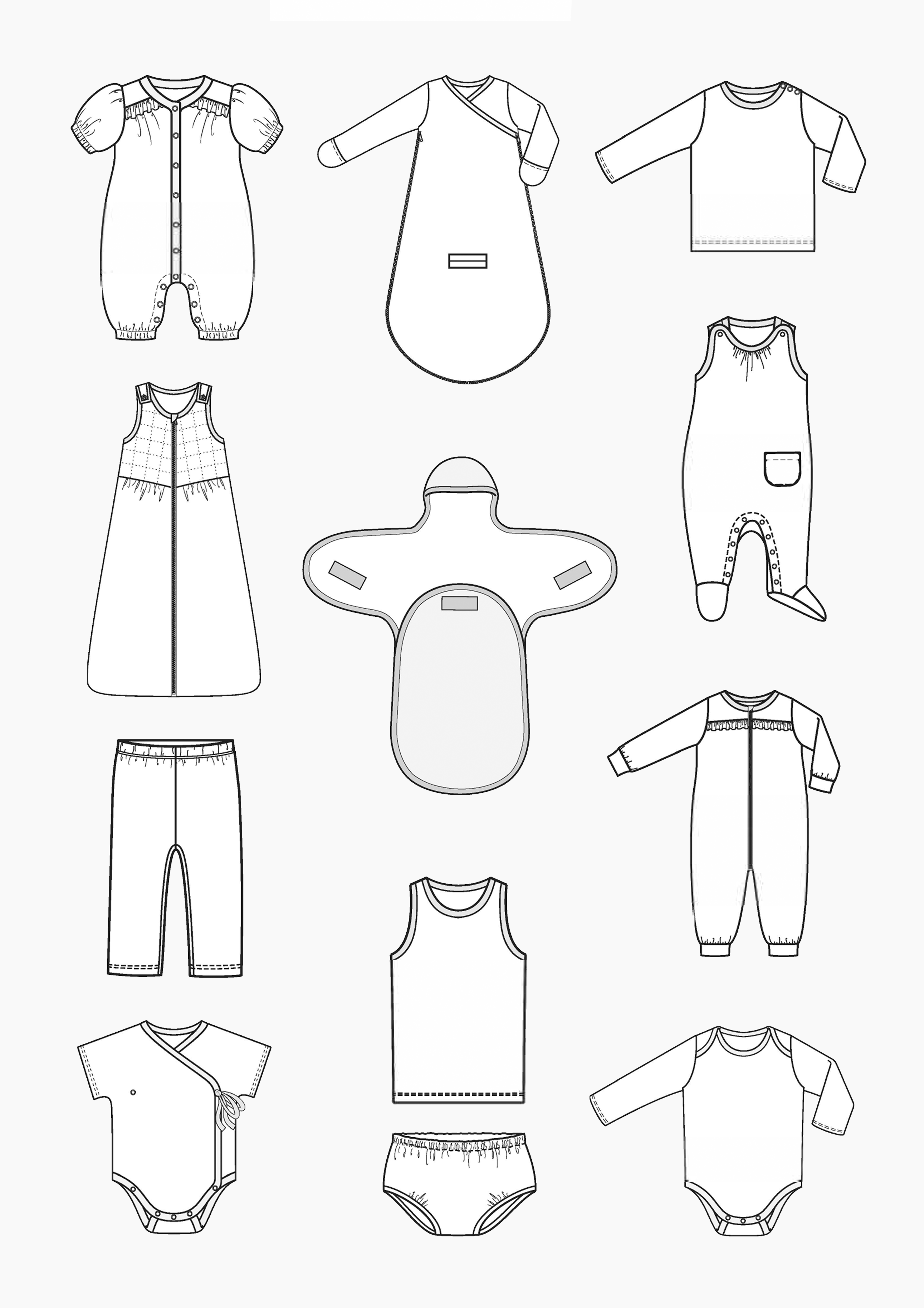 Overview of all Pattern for Babies
