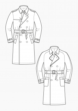 Product: Download Pattern Construction Men: Trenchcoats
