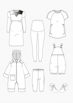 Product: Download Pattern Construction Children: Maternity and Baby Clothes