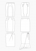 Product: Download Pattern Construction Women: Pencil Skirts