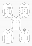 Product: Download Pattern Construction Men: Traditional Bavarian Jackets