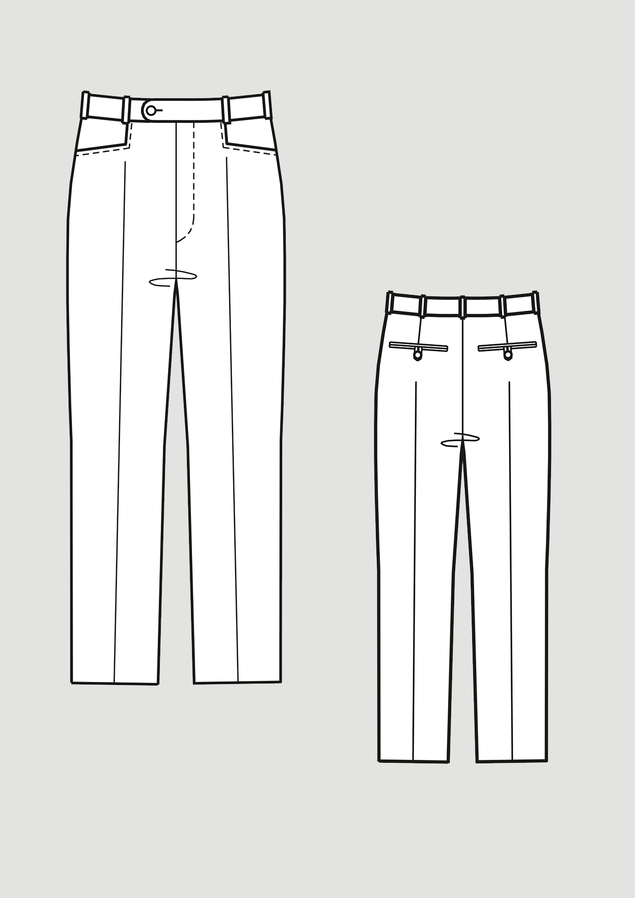 Product: Pattern Narrow Trousers with Dart Basic Block