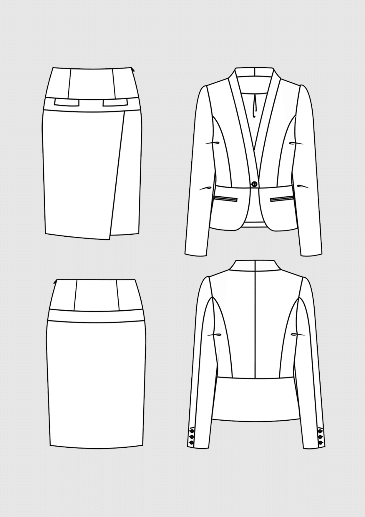 Product: Pattern Business Costume