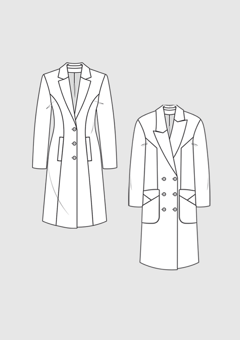 Product: Pattern long coats