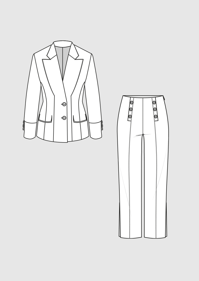 Product: Pattern Trousers Suit
