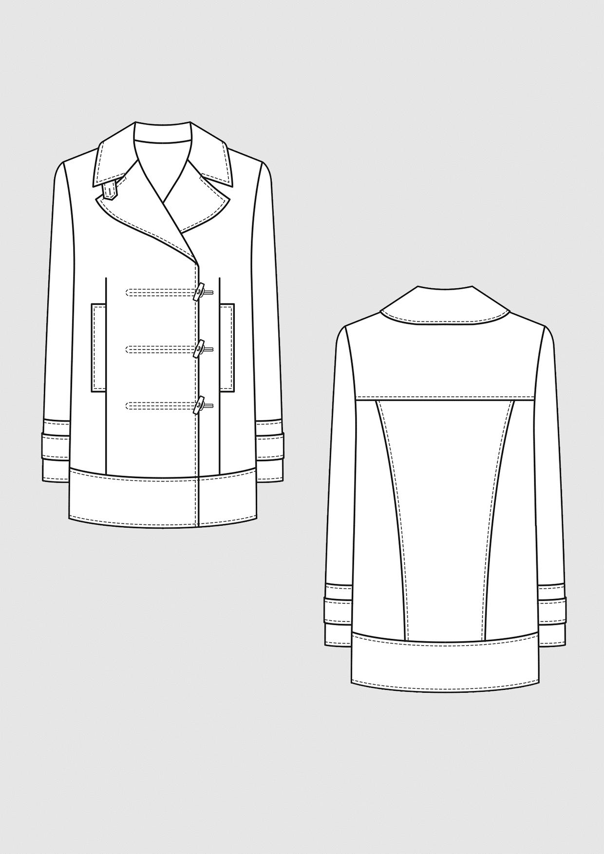 Product: Pattern Caban Jacket