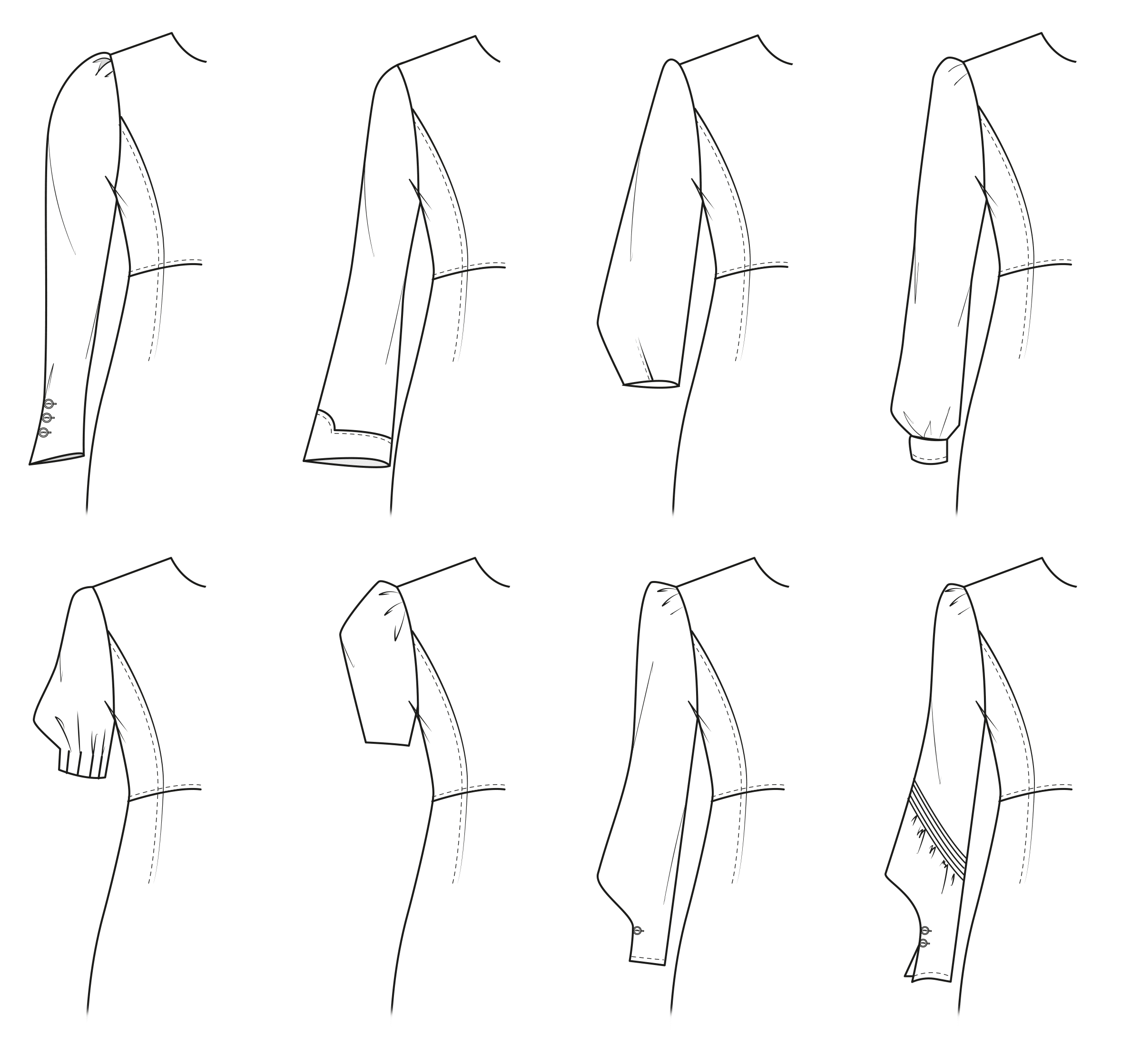 Pattern making for statement sleeve variations