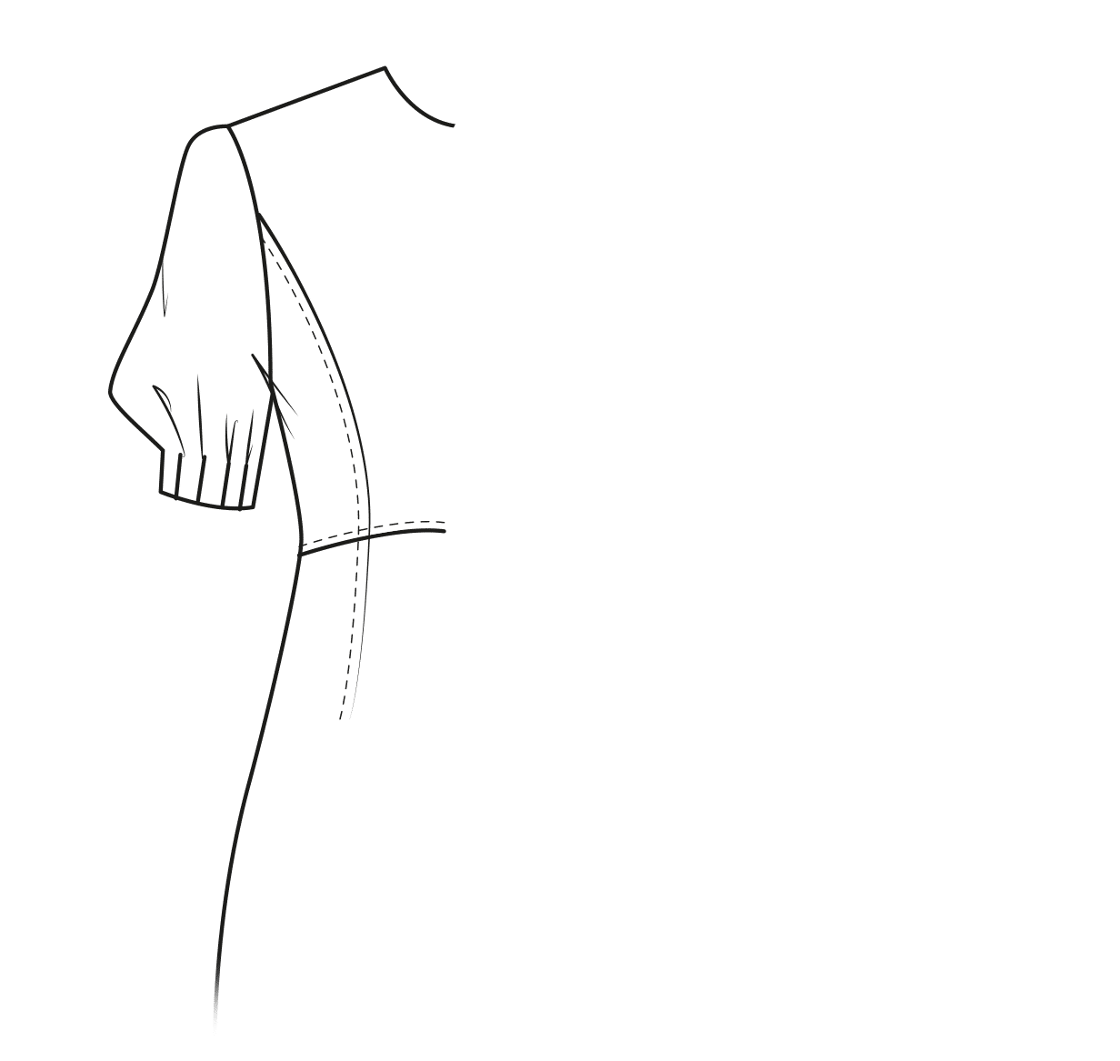 Half-lenght puffy sleeve